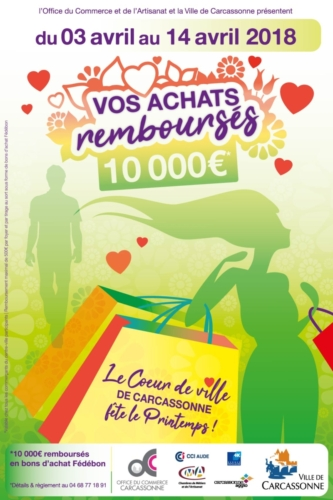 Affiche animation commerciale OCAC Carcassonne