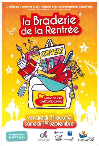 Affiche Braderie rentrée 2018 OCAC Carcassonne