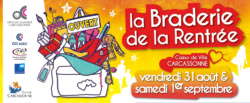 Bandeau web Braderie Rentrée Facebook OCAC Carcassonne