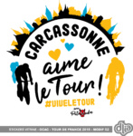 Sticker vitrine Tour de France 2018 Carcassonne
